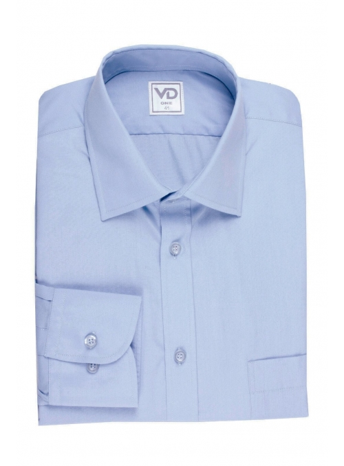 Shirt is blue classical