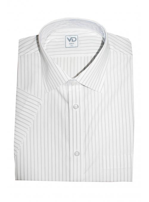 Рубашка белая классическая в полоску
