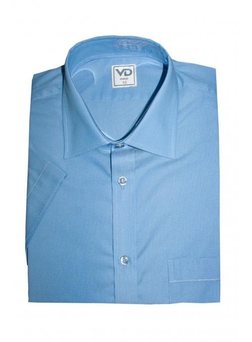 Рубашка синяя классическая