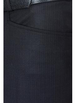 Брюки черные в синюю полоску шерстяные