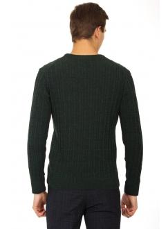 Джемпер зеленый шерстяной в узор