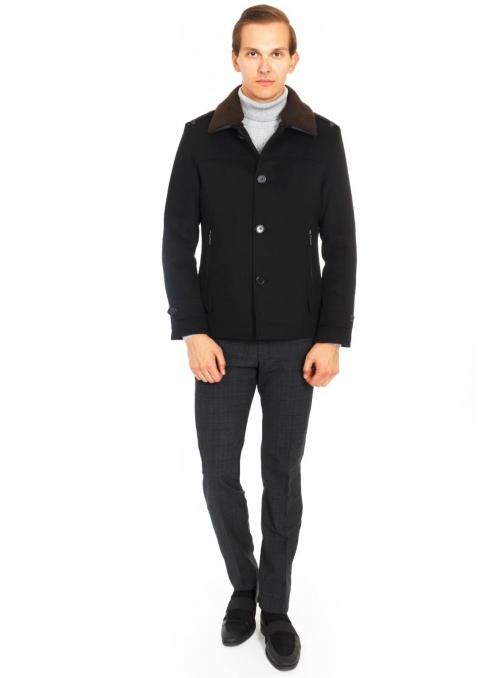 Пальто черное шерстяное