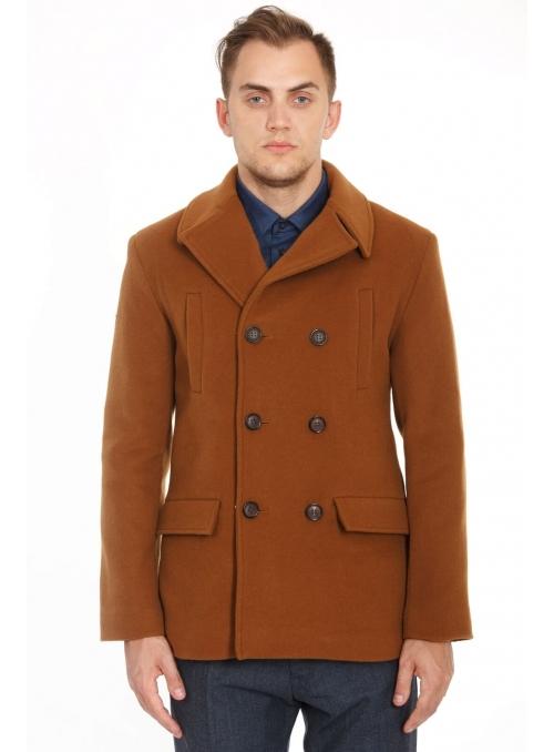 Пальто мужское шерстяное двубортное