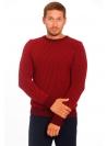 Джемпер красно-бордовый шерстяной в узор