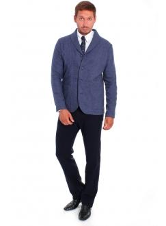 Піджак синій вовняний