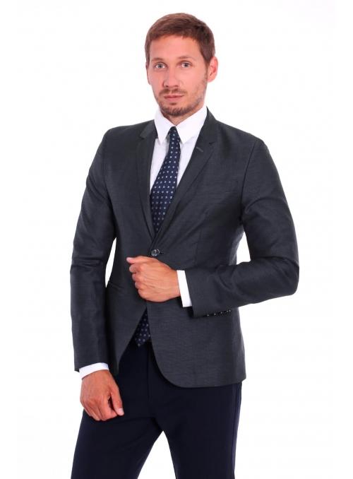 Пиджак серый шерстяной