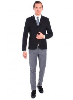 Пиджак черно-серый шерстяной
