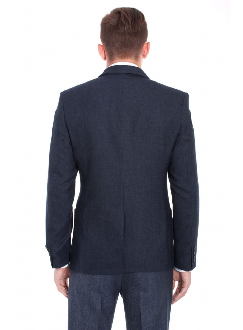 Пиджак синий шерстяной