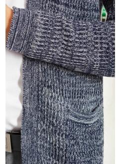 Жакет сине-серый меланж шерстяной