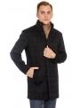 Пальто чорне в клітинку вовняне