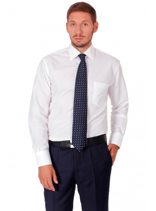 Shirt is white classical