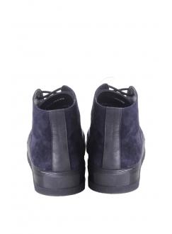 Ботинки сине-черные