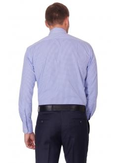 Рубашка синяя классическая в клетку