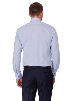 Рубашка голубая классическая в клетку