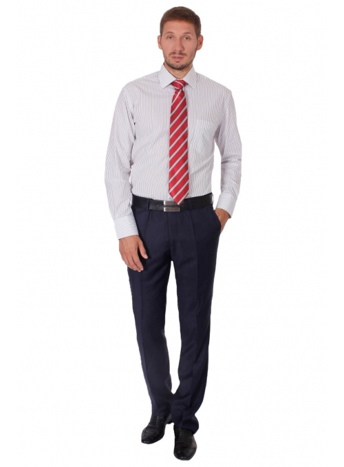 White classic shirt with black stripes