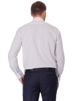 Рубашка белая классическая в черную полоску