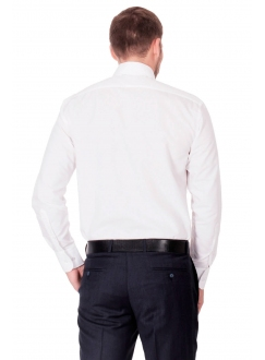 Shirt is white classical without a pocket