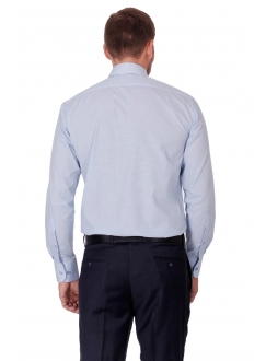 Classic blue shirt without a pocket