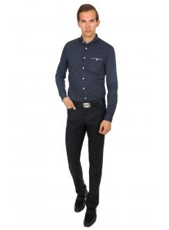 Рубашка синяя в точку