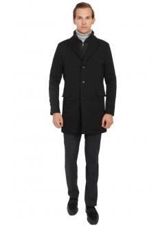Пальто черное хлопковое