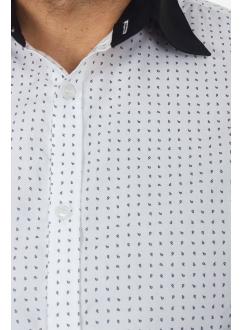 Рубашка бело-черная в точку