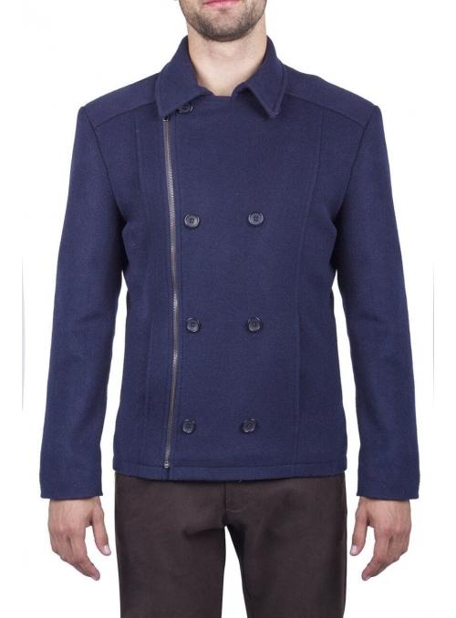 Пальто мужское укороченное шерстяное