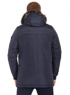 Куртка темно-синя на блискавці
