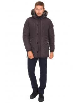 Куртка коричнева на блискавці