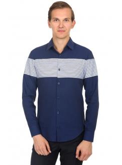 Shirt blue striped