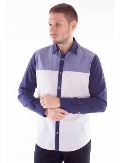 Рубашка с зонированный рисунком