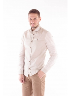 Shirt with accented sleeves