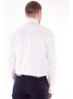 Shirt with hidden buttons