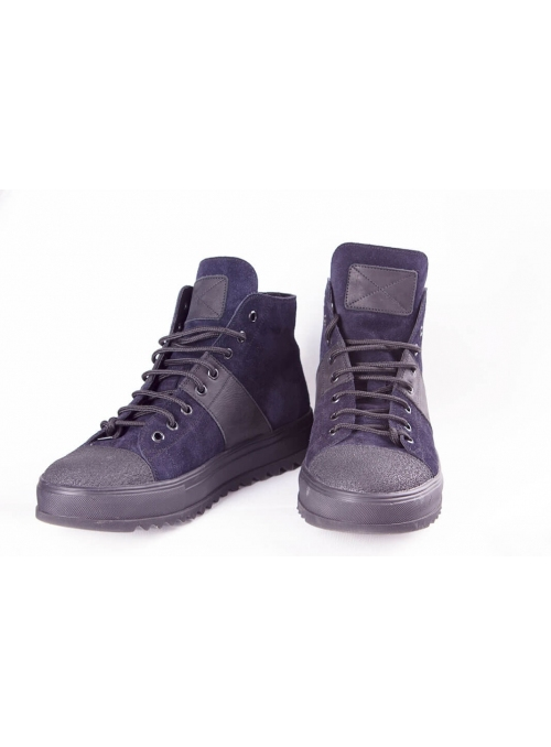 Boots are blue-black