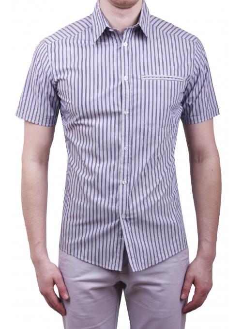 Чоловіча повсякденна сорочка VDone синя у смужку