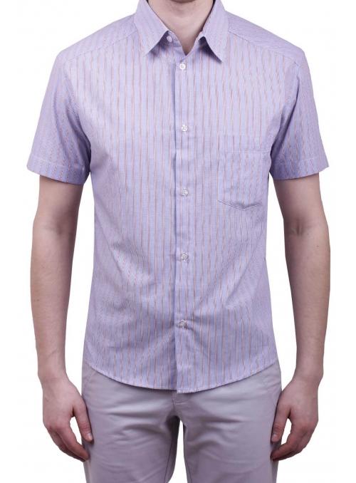 Мужская повседневная рубашка VDone в красную полоску