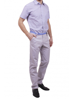 Чоловіча повсякденна сорочка VDone в коричневу смужку