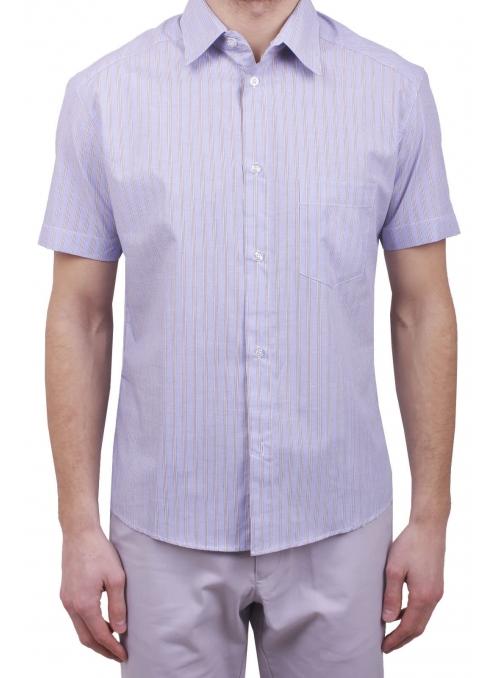 Мужская повседневная рубашка VDone в коричневую полоску
