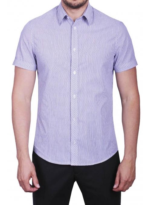 Рубашка повседневная в синюю полоску