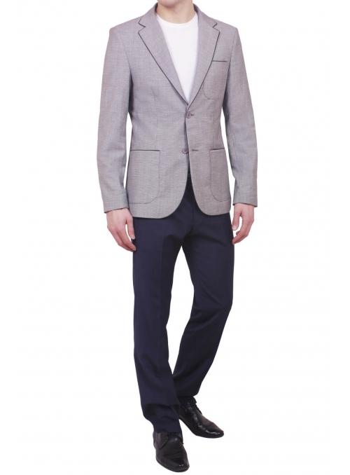 Пиджак черно-белый меланж