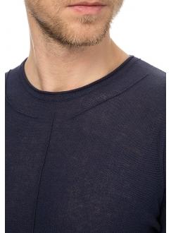 Джемпер трикотажный синий хлопковый