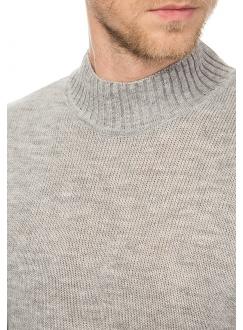 Джемпер трикотажный серый