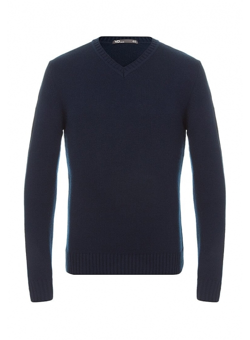 Sweater knitted blue