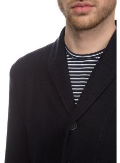 Піджак бавовняний трикотажний темно-синій