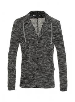 Піджак бавовняний трикотажний чорно-білий