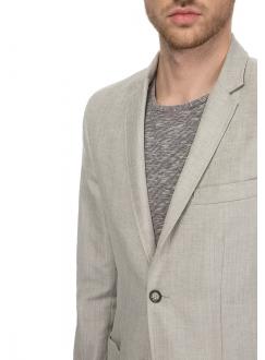 Піджак льняний  светло-серый меланж
