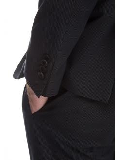 Костюм мужской черный хлопковый