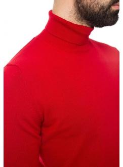 Гольф мужской трикотажный красный