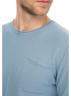Джемпер трикотажний бавовняний блакитний