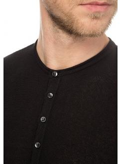 Джемпер трикотажний бавовняний чорний