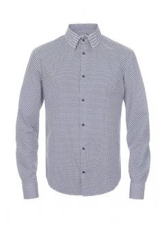 Мужская рубашка в узор